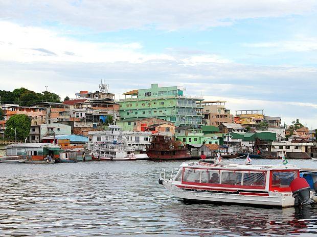 Rio Negro na área do bairro Educandos, Zona Sul de Manaus (Foto: Tiago Melo/G1 AM)