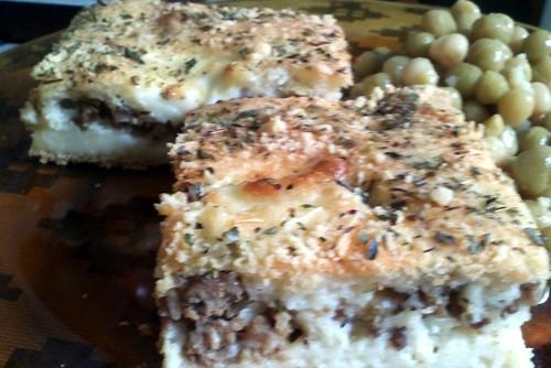 Torta de carne moída de liquidificador