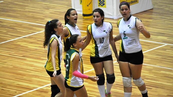 Seleção do RN vôlei feminino juvenil (Foto: Divulgação/CBV)