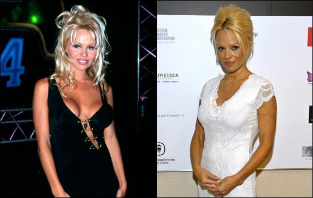 Estrela-mor de 'S.O.S. Malibu' (1989–2001), Pamela Anderson, de 47 anos, foi uma das mulheres mais sexy da década de 90. Em 1994, ela estava com 27 anos de vida. (Foto: Getty Images)