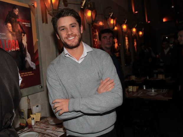 Leonardo Miggiorin em restaurante em São Paulo (Foto: Cláudio Augusto/ Foto Rio News)