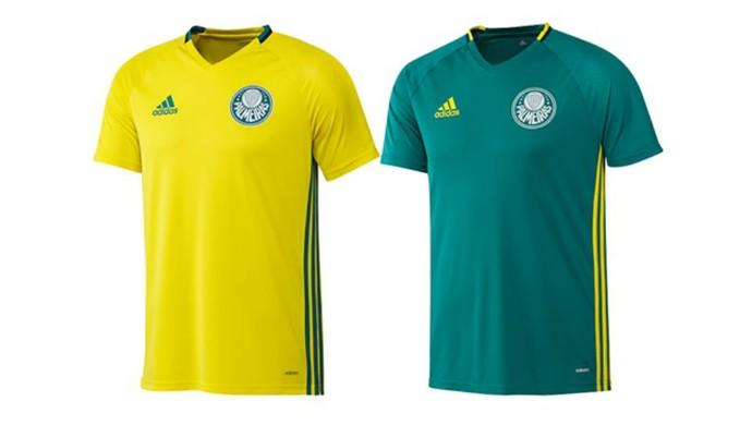 Palmeiras lança uniforme de treino nas cores verde e amarela ac45714a42724