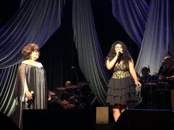 Sylvia Nazareth e Alcione dividem palco (Foto: Arquivo pessoal )