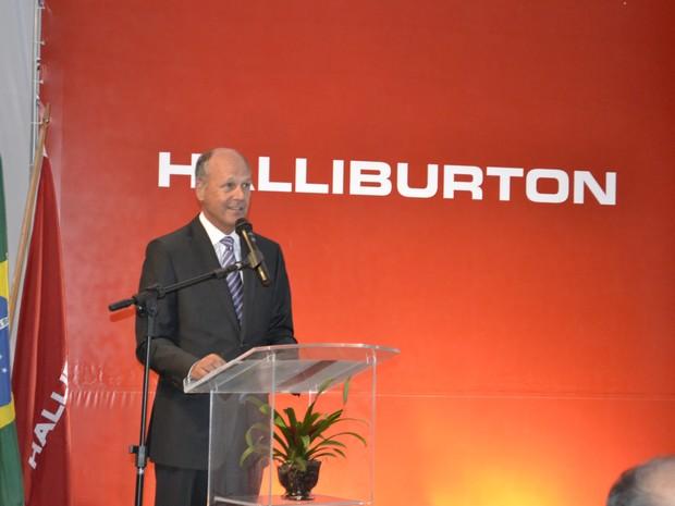 Tim Probert, presidente de Estratégia Corporativa da Halliburton (Foto: George Patiño/Agência de notícias Parque Tecnológico da UFRJ)