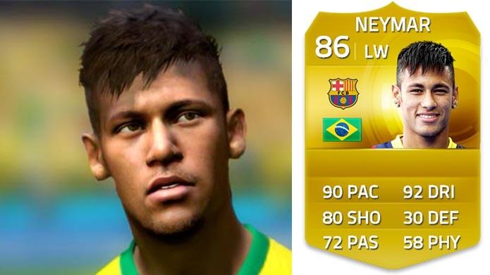 Fifa 15: Neymar melhora e aparece entre os 50 melhores do game (Foto: Reprodução/Murilo Molina)
