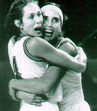 Hortência e Paula Basquete mundial 1994 (Foto: Divulgação / CBB)