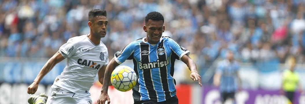 Grêmio vence o Figueirense  com gol no fim na Arena (Lucas Uebel/Divulgação Grêmio)