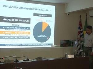 Secretário de Administração explicou a situação financeira do município (Foto: Armando Neto/Prefeitura de Bertioga)