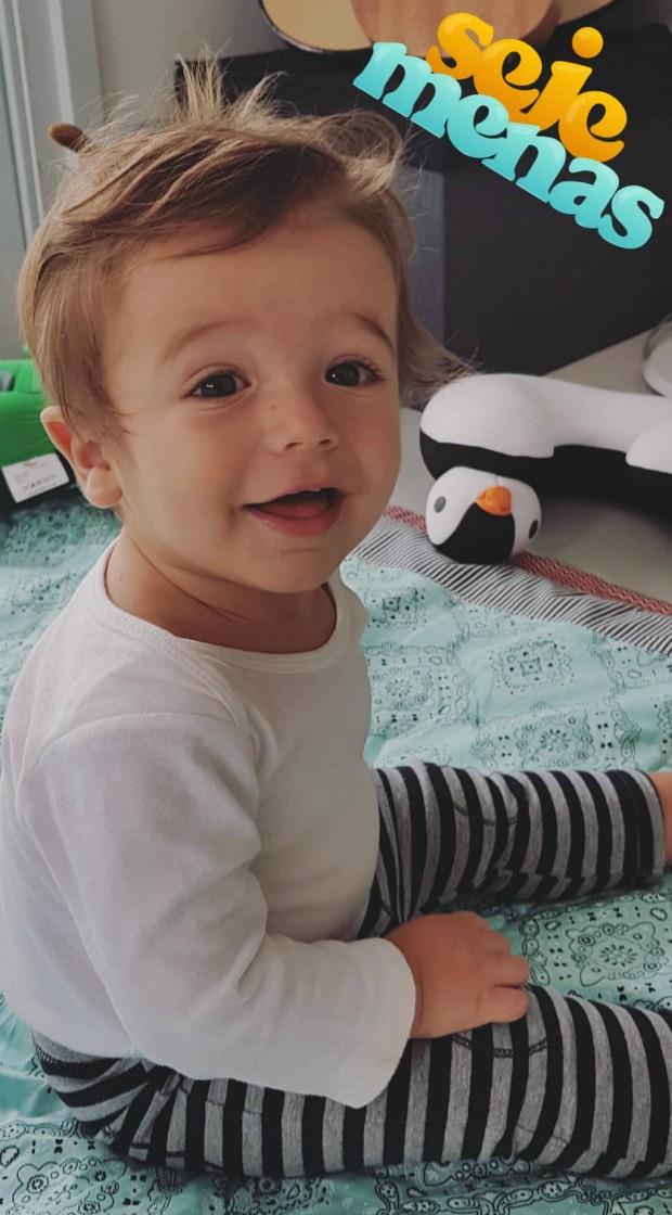 Rocco, filho de Rafa Brites e Felipe Andreoli (Foto: Reprodução)