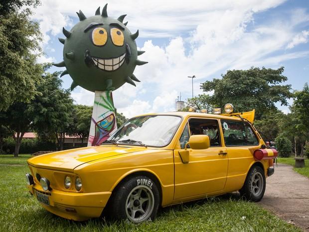 Brasília amarela foi um dos símbolos da banda Mamonas Assassinas (Foto: Fábio Tito/G1)