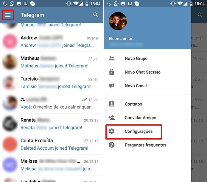 Telegram exibe excesso de notificações de novos contatos no serviço (Foto: Reprodução/Elson de Souza)