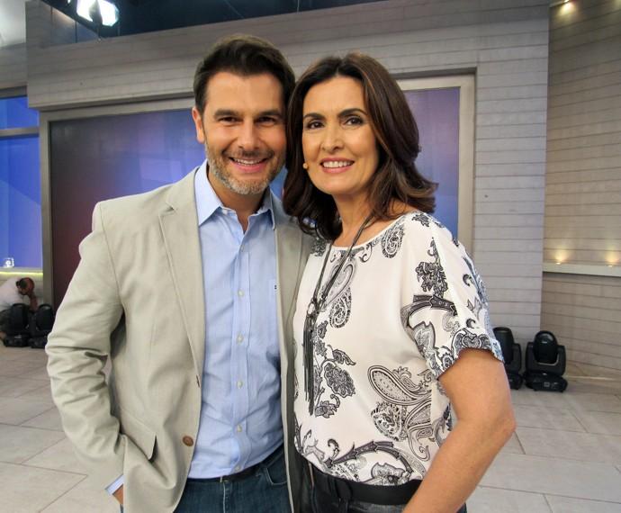 Fátima com o parceiro, o Dr. Fernando Gomes (Foto: Carolina Morgado/Gshow)