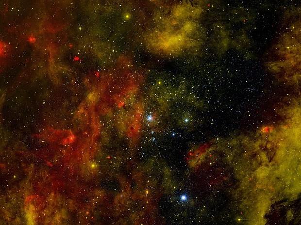 Cygnus aglomerado de estrelas  (Foto: Nasa/Divulgação)