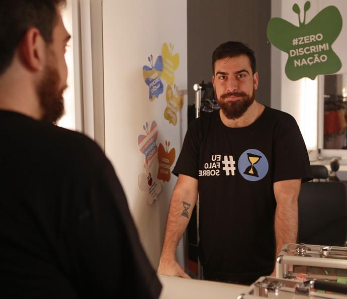 Gabriel diz se sentir honrado em participar do projeto (Foto: Pedro Carrilho/Gshow)