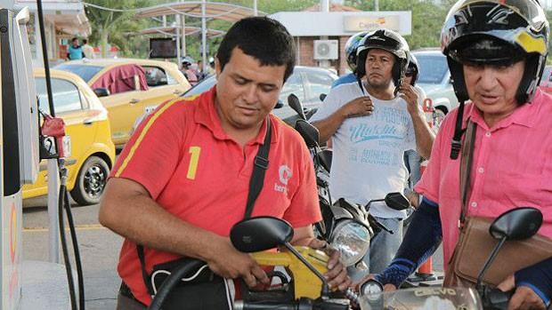 Há pouca oferta de gasolina legal em Cúcuta (Foto: BBC Mundo)