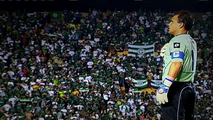 Harlei, goleiro do Goiás (Foto: Reprodução/TV Anhanguera)