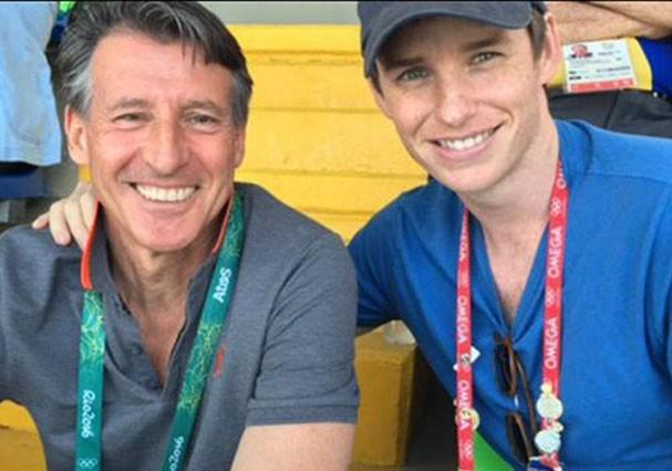Eddie Redmayne e amigo no Rio de Janeiro (Foto: Reprodução/Instagram)