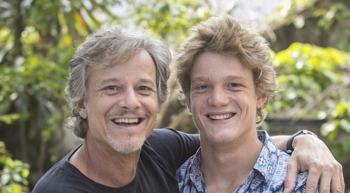 Marcello Novaes e o filho, Pedro Novaes (Foto: Raphael Dias / Gshow)