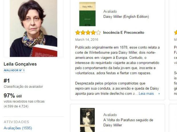 Leila conquistou 1ª posição no ranking de avaliadores do site (Foto: Reprodução/Amazon.com)