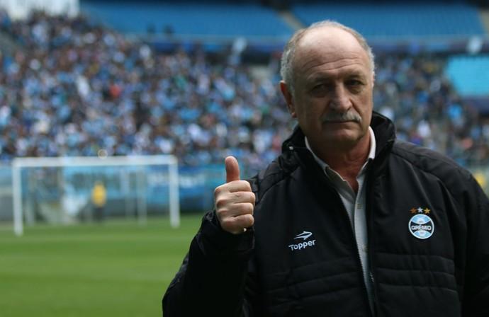 Felipão chegada Porto Alegre Grêmio treino (Foto  Diego  Guichard GloboEsporte.com) 783c37a7a60cc