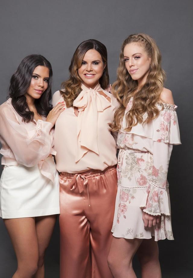 Claudia Fitipaldi Salomão com as filhas Maria Victoria e Maria Valentina Salomão (Foto: Divulgação)