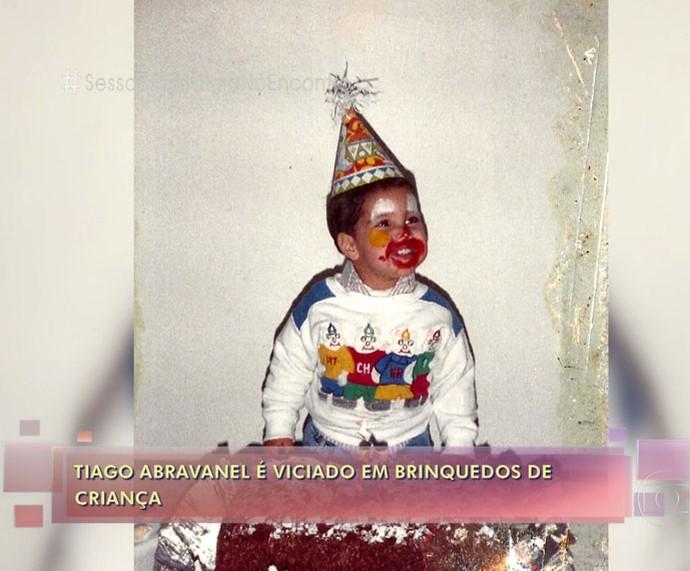 Tiago Abravanel pequeno: fofura (Foto: TV Globo)