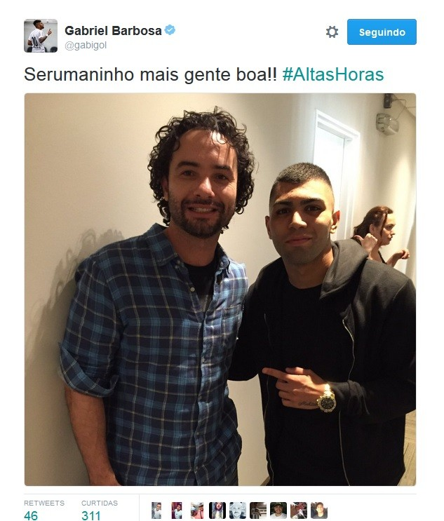 BLOG: Visual novo! Gabigol tira barba branca e registra encontro com Marco Luque