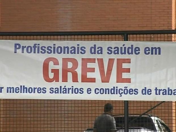 Funcionários da Famema entram em greve (Foto: Reprodução / TV TEM)