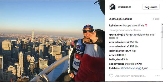 Tyga e Kylie Jenner (Foto: Reprodução/Instagram)