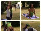 Maria Júlia Coutinho, a Maju do 'Jornal Nacional', faz ioga em fotos