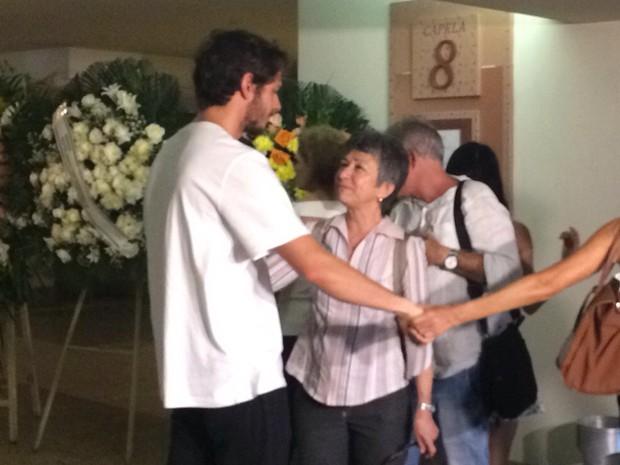 Velório da jornalista Sandra Moreyra (Foto: Matheus Rodrigues/G1 Rio)