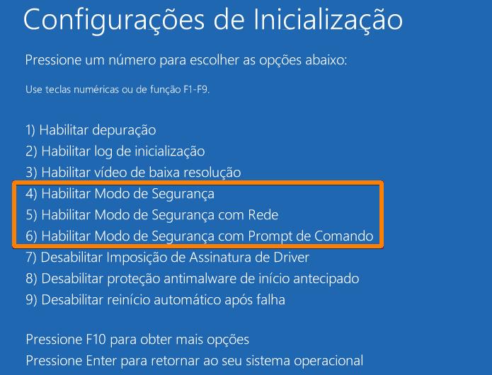 Configurações de inicialização do Windows 10 (Foto: Reprodução/Edivaldo Brito)