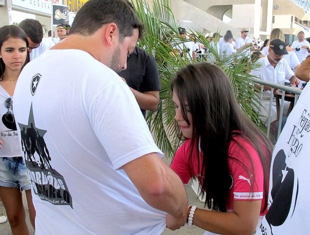 Fernanda Maia em evento do Botafogo (Foto: Thales Soares / Globoesporte.com)