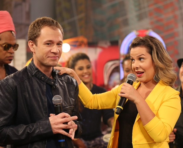 Fernanda Souza e Tiago Leifert 2 - the voice web (Foto: Isabella Pinheiro/ TV Globo)