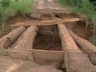 Chuvas causam interdição de ponte na zona rural de Ituiutaba, MG