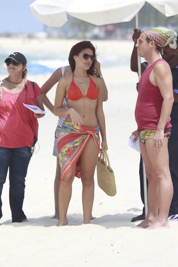 Paloma Bernardi em gravação de Salve Jorge (Foto: Dilson Silva/AgNews)