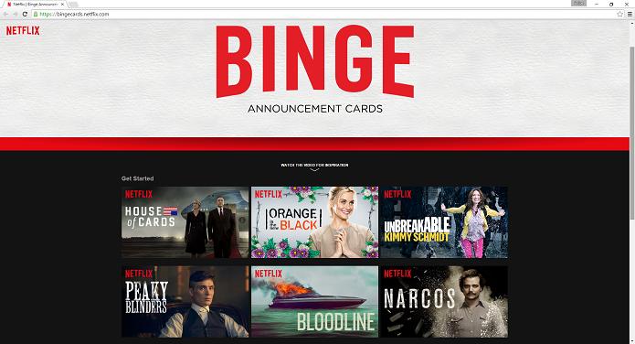 Acessando o serviço Binge Cards do Netflix (Foto: Felipe Alencar/TechTudo)