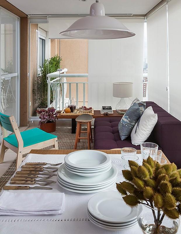 Varanda gourmet repaginada em 30 dias ganha sala de jantar for Sala de estar gourmet