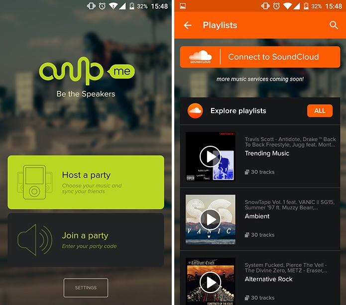 Ampme oferecerá sugestões de playlists no SoundCloud para usuários que for controlar músicas (Foto: Reprodução/Elson de Souza)