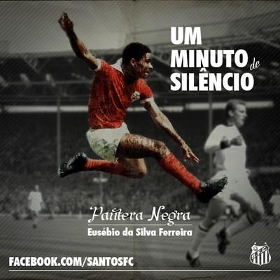 Santos homenagem Eusébio atacante Benfica Portugal (Foto: Reprodução / Facebook Santos FC)