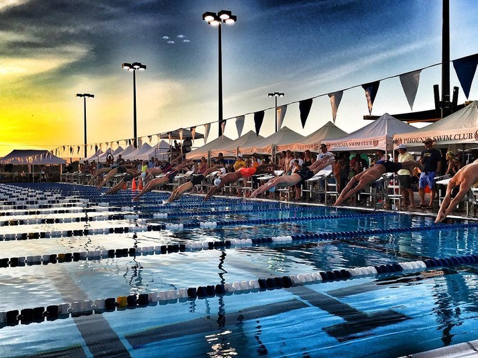 Cesar Cielo Phoenix natação (Foto: Reprodução / Facebook Phoenix Swim Club)