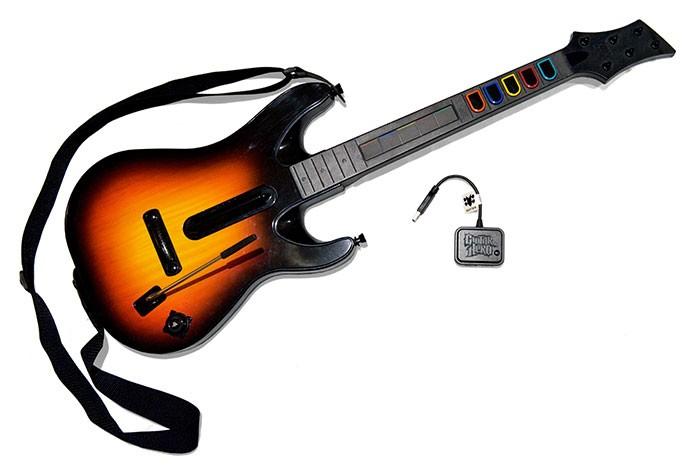 A guitarra com sensor no meio do braço (Foto: Divulgação/Activision)