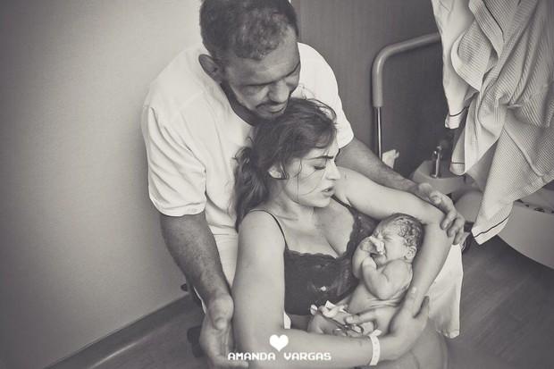 Rogério Minotouro, Aline Zermian e Roger (Foto: Amanda Vargas / Divulgação)
