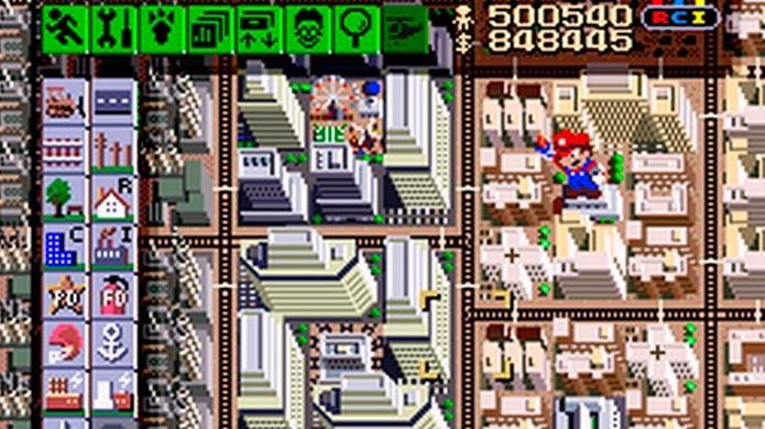 Mario aparece na versão de SNES de SimCity (Foto: Divulgação)