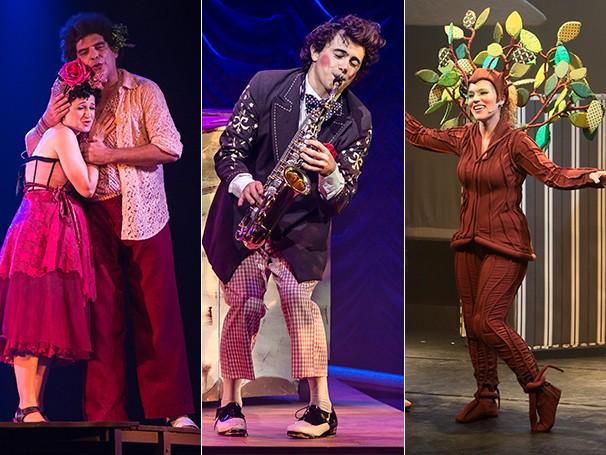 Na foto, os figurinos de 'A Cuíca do Laurindo', 'O Palhaço e a Bailarina' e 'A Árovore Que Fugiu do Quintal' (Foto: Divulgação)