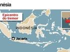 Terremoto mata menina de 8 anos e deixa 15 feridos na Indonésia