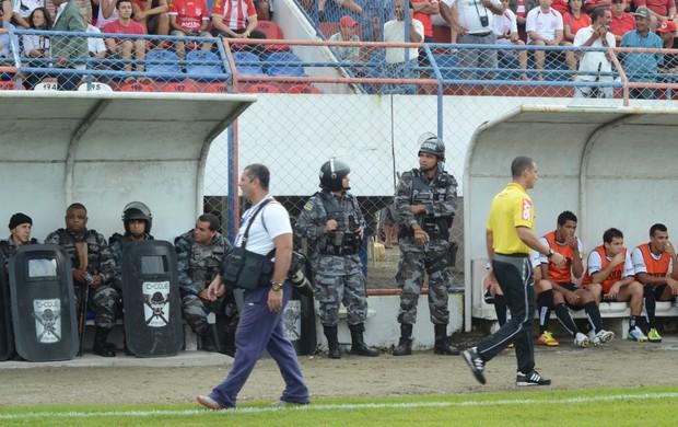 Segurança foi tranquila no Médici (Foto: Thiago Barbosa)