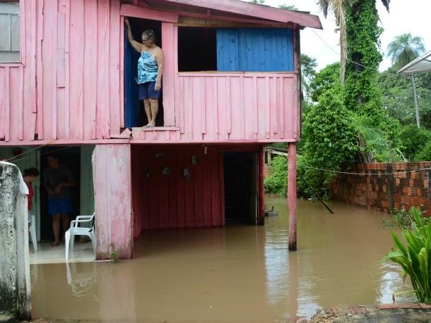 Nível do Rio Aquidauana chega a 9 metros, diz Defesa Civil em MS (Foto: Rhobson T Lima/O Pantaneiro)