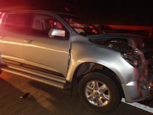 Motorista da caminhonete dirigia embriagado na BR-060, em Alexânia, Goiás (Foto: Divulgação/ PRF)