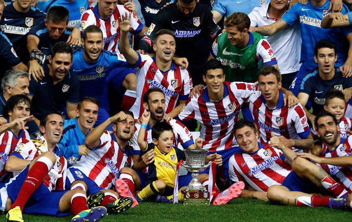 Mandzukic atletico campão supercopa real madrid x atletico madrid (Foto: AFP)